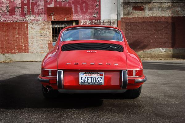 1972 Porsche 911 T seen from behind