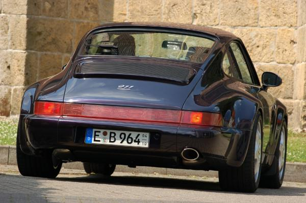 The 1994 Anniversary edition 911 seen from behind